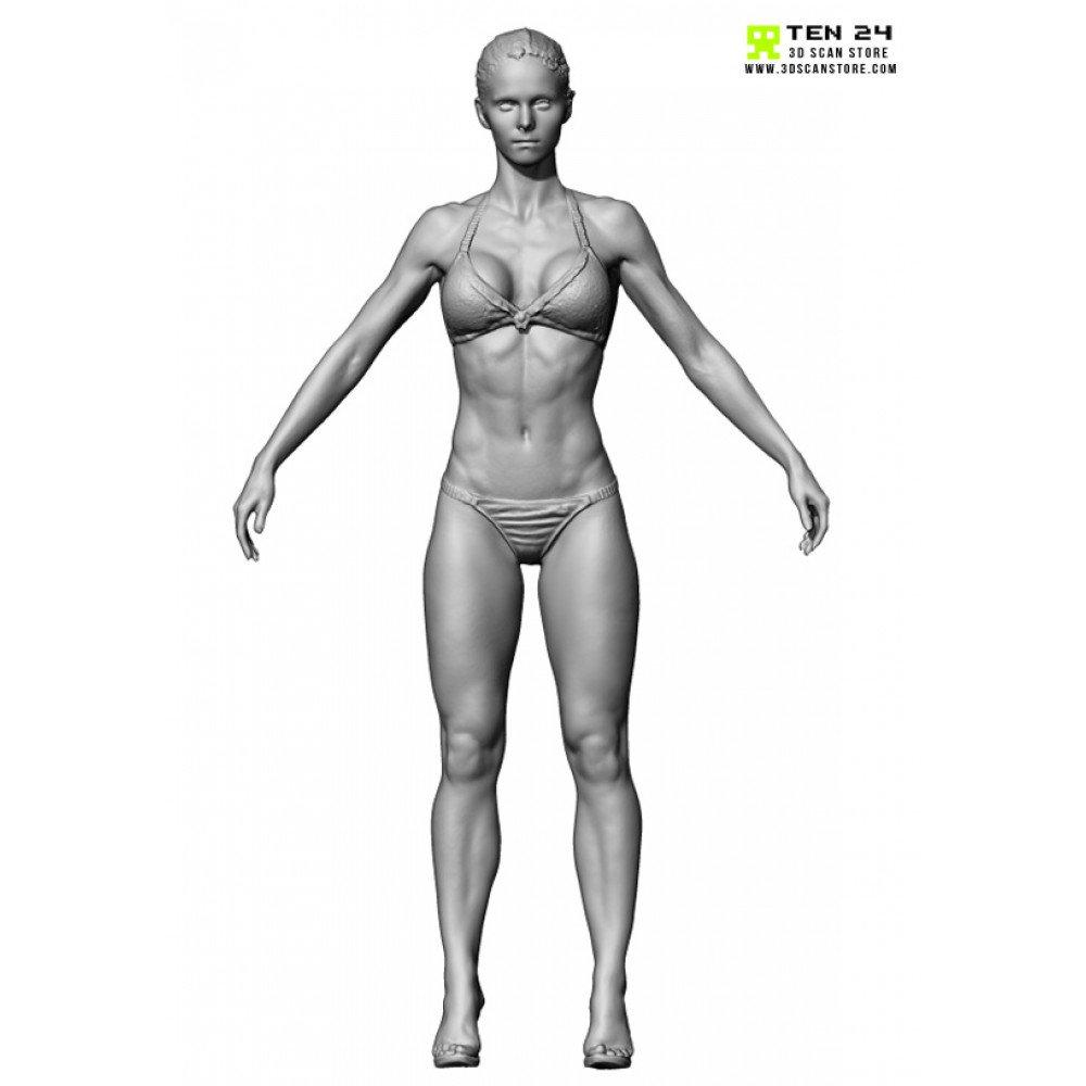 9组健美女性完整人体3D模型合辑